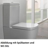 Globo Stone Stand-WC für Kombination, B: 360, T: 660 mm, H: 400 mm, schwarz matt