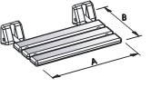 pro Med Serie 200 Holz Duschklappsitz aus Iroko-Sauna-Holz inkl. Standard-Befestigungsmaterial