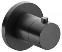 Keuco Thermostatarmatur IXMO 59553, rund, Schwarzchrom gebürstet, 59553130001