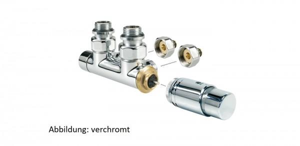 Jaga Deco Pro Anschluss-Satz zur Wand, verchromt, für VPE/ALU Rohr 16/2 mm
