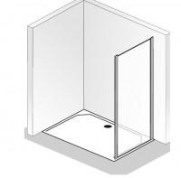 HSK Favorit Seitenwand zur Gleittür, 2-teilig, mit Bodenprofil