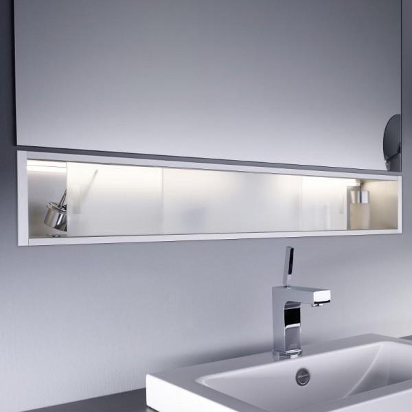 Emco asis Ablage-Modul, LED, Unterputz, 1000mm, aluminium, 971227310