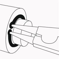 NORDWEST Handel AG Sicherungsringzange A1 DIN 5254 Form A f.D.10-25mm pol. PROMAT f.Außenringe,