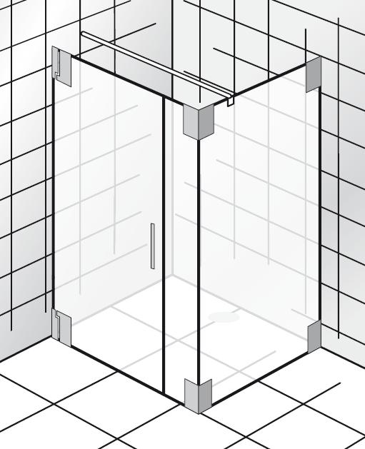 HSK K2.21 Drehtür, Nebenteil und Seitenwand K2.21 bis max. 1000 mm ja nein bis max. 1000 mm nein nein Echtglas klar hell bis max. 2000 mm Stangengriff K2 groß (390 mm)