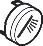 Hansgrohe Druckknopf Symbol Handbrause edelmatt, 93573880