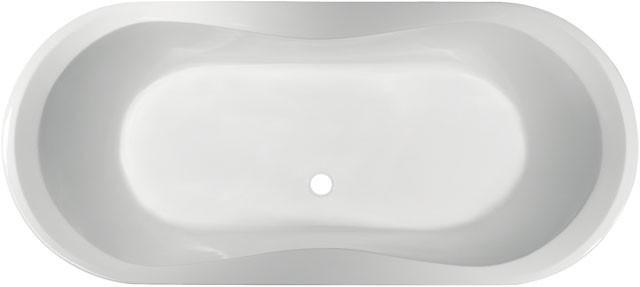 Oval -Badewanne Aqua 1800mm weiss K621501