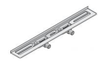 I-DRAIN Korpus Basic 57 mm Wand, 100cm,2Siphon waagr.DN40,Butylklebeband
