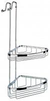 Geesa Basket Collection Duschkorb links eckform zum Einhängen in die Dusche groß
