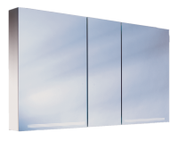 Schneider Spiegelschrank Graceline 130/3/FL/LED, 1x54W+1x28W 1300x700x120 alueloxiert, 116.330.02.50