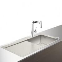 Hansgrohe Select Spülencombi 450 mit Abtropffläche C71-F450-02 chrom, 43208000