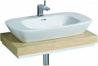 Keramag Waschtisch-Platte Silk 816280 Ausschn. mittig, 800x100x470mm Eiche Echtholzfurnier, Y8162800