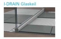I-DRAIN Glaskeil rechts 1,20 m, Edelstahl, gebürstet,h5 19mm, h1 37mm