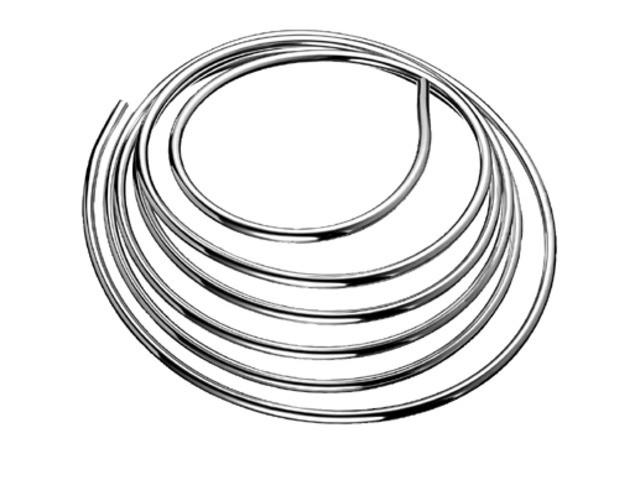 Kupferrohr in Ringform d:8mm 5000mm chrom 487400699