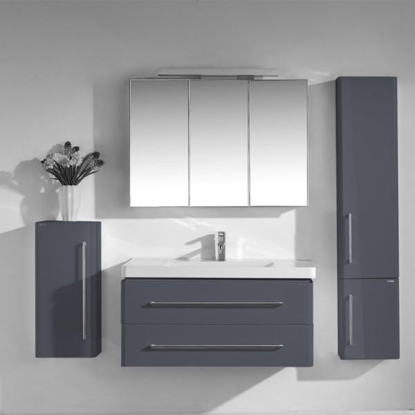 Neuesbad 4000 Badmöbelset 100 cm Breite, inklusive Waschtisch, Unterschrank und Spiegelschrank