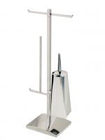 KOH-I-NOOR AKKA Tolilettenbürste, doppelter Rollenhalter und Reserverollerhalter 21x18x70 cm 5038, c