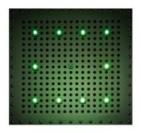 Bossini Dream Cube Kopfbrause 400 x 400 mit 10 RGB LED`s