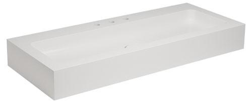 Keuco Waschtisch Edition 300 30370,weiß alpin, B: 1250, H: 155, T: 525 mm