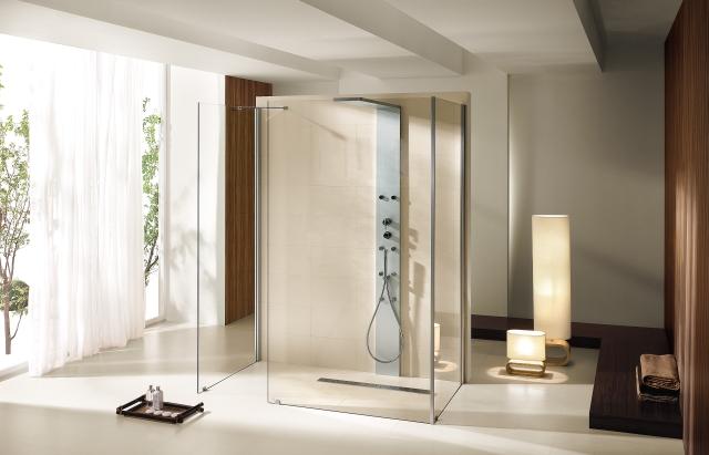 Hoesch Duschabtrennung Thasos 1500x800 re. Vorwand mit